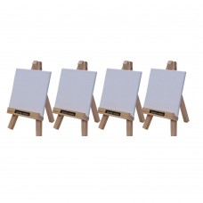 """Roger & Moris Mini 'A' Easel 6"""" with Canvas 3.5"""" x 3.5"""" (Set of 4)"""