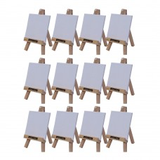 """Roger & Moris Mini 'A' Easel 6"""" with Canvas 3.5"""" x 3.5"""" (Set of 12)"""