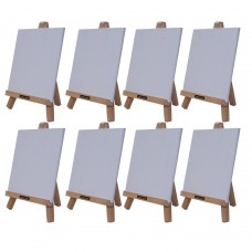 """Roger & Moris Mini 'A' Easel 10"""" with Canvas 7"""" x 7"""" (Set of 8)"""