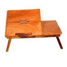 Roger & Moris Teak Laptop Table With Slots (22 inch approx)